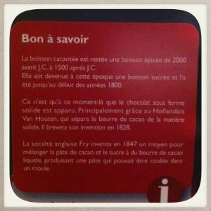 anecdote musée du chocolat