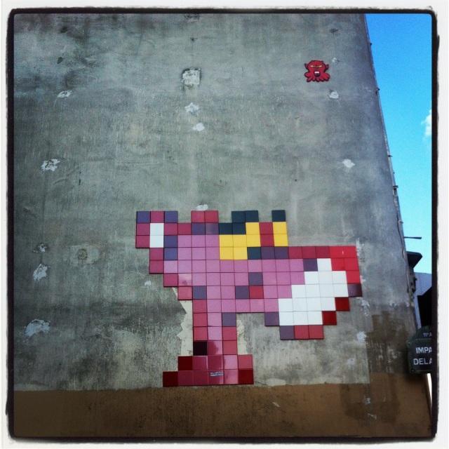 street art panthère rose